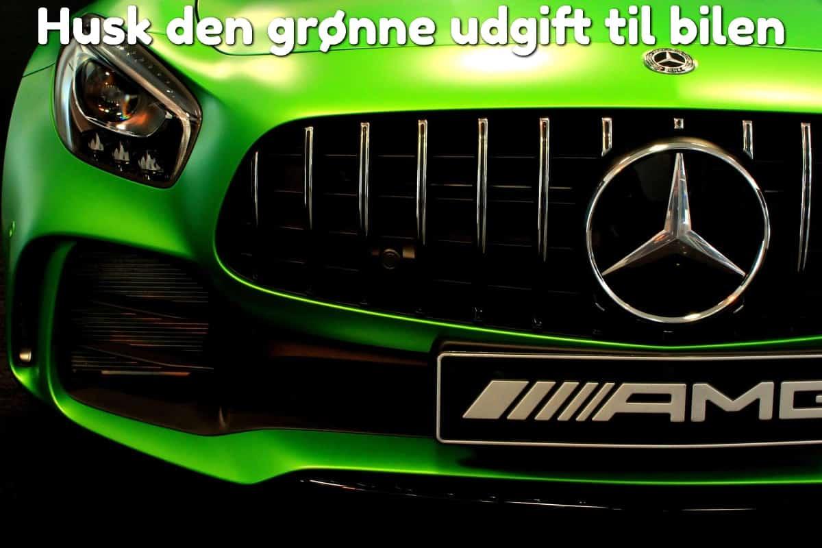 Husk den grønne udgift til bilen